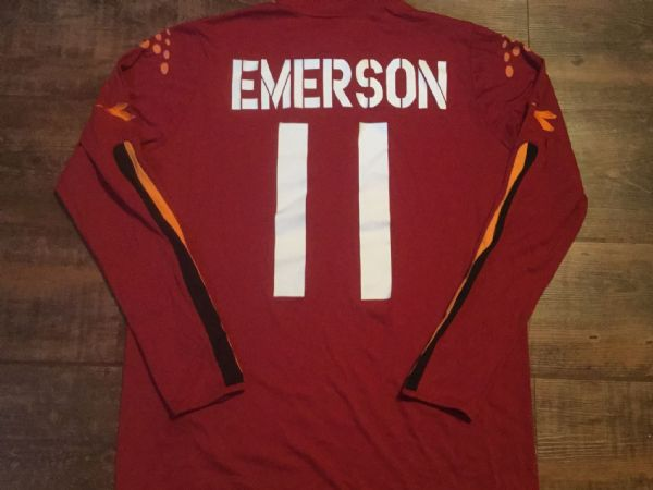 2003 2004 Roma Emerson Home L/s  Football Shirt Adults XL